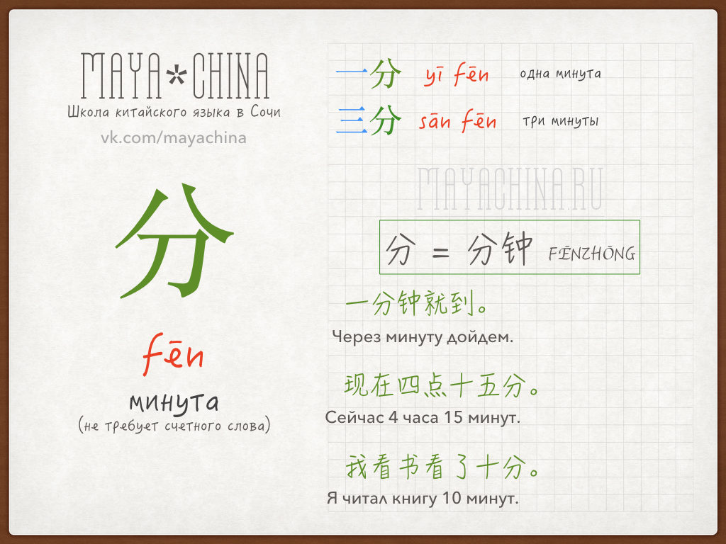 обстоятельство времени на китайском языке